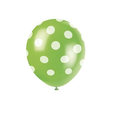 Palloncini lattice verde a pois bianco