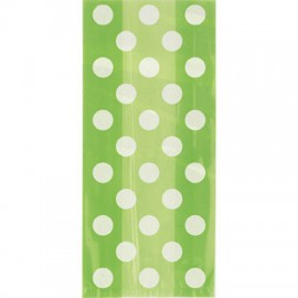 Green dots cellophane bags