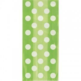 Borsine cellophane verde a pois 20pz