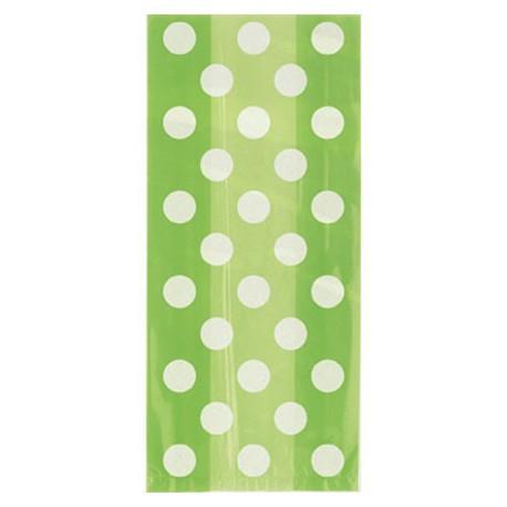 Green dots cellophane bags