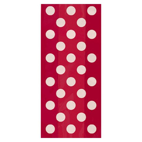 Red dots cellophane bags