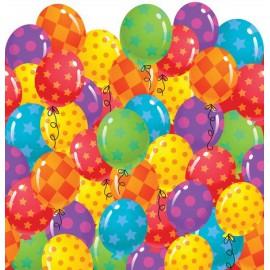 Happy Birthday Balloons Plastic Tablecover