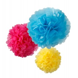 Bright Pom Poms Mixed Sizes