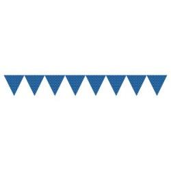 Blue Polka Dots Paper Flag Banner