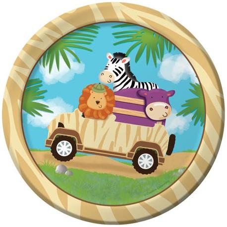 Safari Party Dessert Plates
