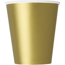 Golden Paper Cups 24 pc