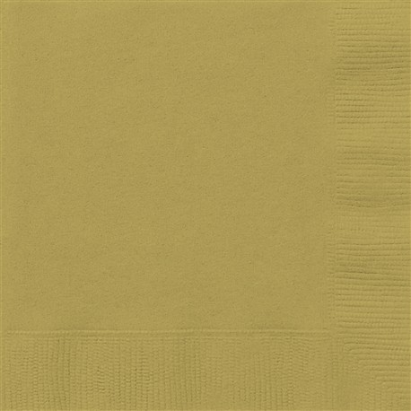 Golden Paper Lunch Napkins 50pc