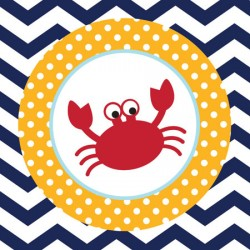Mariner Crab Beverage Napkins