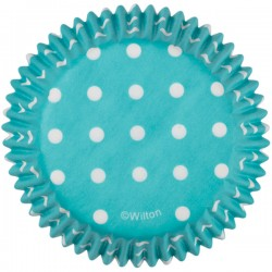 Cupcakes Baking Cups Teal Dots