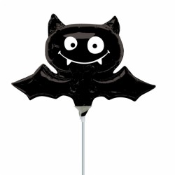 Black Bat Minishape Foil Balloon