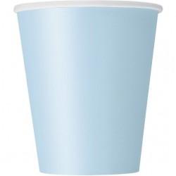 Bicchieri Carta Azzurro Pastello