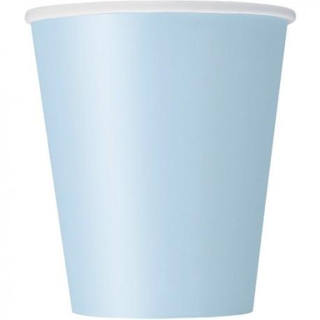 Piattini Carta Azzurro Pastello 8pz