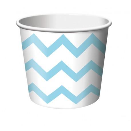 Chevron Pastel Blue Treat Cups