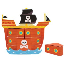 Pirate Ship Treatboxes Centerpiece