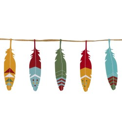 Pow Wow Feather Garland