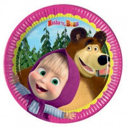 Masha and the Bear Dessert Plates