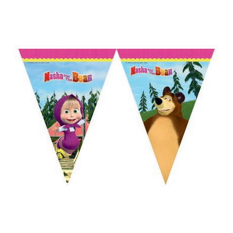 Masha and the Bear Flag Banner