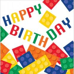 Tovaglioli Happy Birthday Block Party