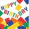 Tovaglioli Happy Birthday Lego Block Party