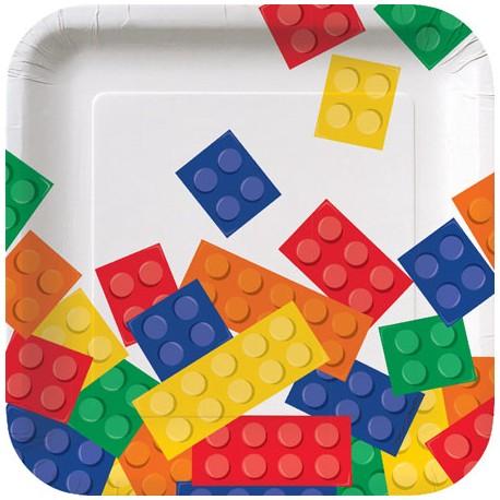 Lego Block Party Dessert Plates