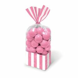 Sacchetti righe rosa