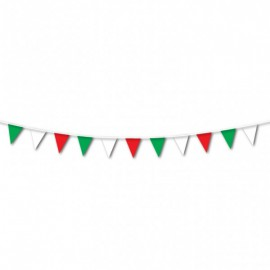 Italian triangle flag banner 7m