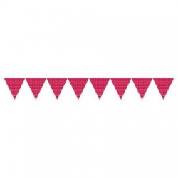 Red dots paper flag banner