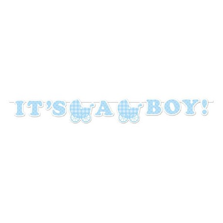 Festone Baby Shower Baby Blue