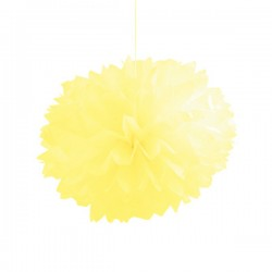 Set Pompom Giallo 3pz