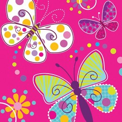 Butterfly Sparkle Lunch Napkins