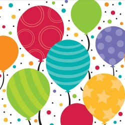 Balloons Dessert Plates