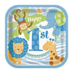 Blue Safari Dessert Plates