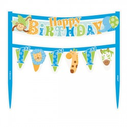 Blue Safari Cake Banner