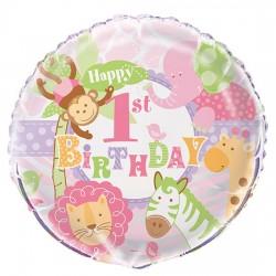 Pink Safari Foil Balloon