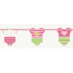 Ghirlanda vestitini Baby Shower Pink Dots