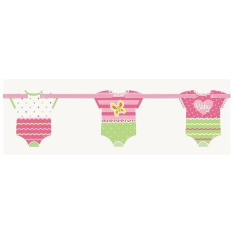 Pink Dots Baby Cutout Banner