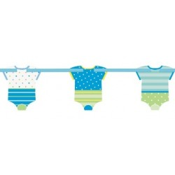 Ghirlanda vestitini Baby Shower Blue Dots