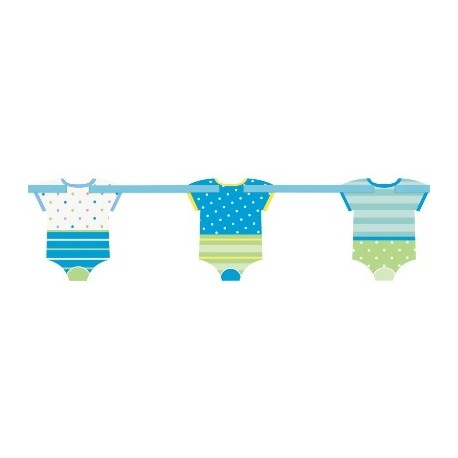 Blue Dots Baby Cutout Banner