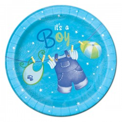 Blue Clothesline Dessert Plates