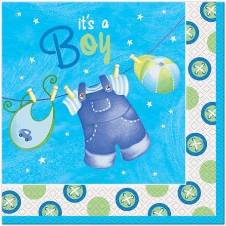 Baby Blue Lunch Napkins
