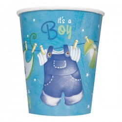 Blue Clothesline Paper Cups