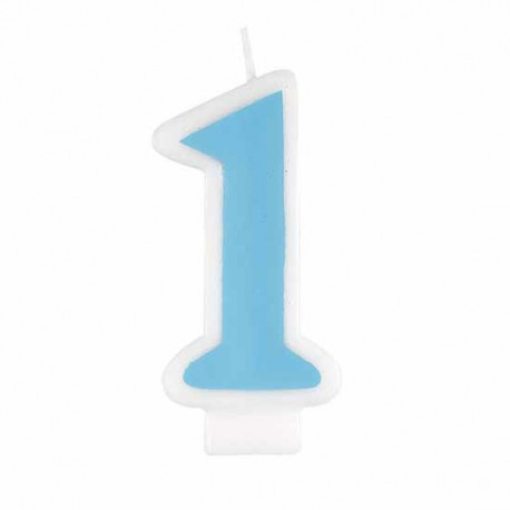 Blue First Birthday Candle