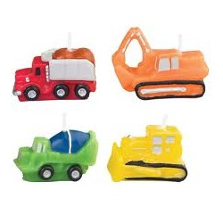 Construction Vehicles Assorted Candles