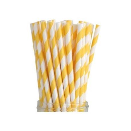 Cannucce a righe bianco e giallo