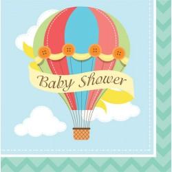 Tovaglioli Baby Shower Mongolfiera
