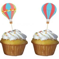 Decorazione per torta o cupcakes Mongolfiera