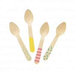 Pastel Pink Premium Plastic Spoons