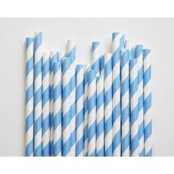 Blue Striped Paper Straws 10pc