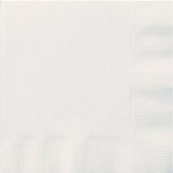 White Lunch Napkins