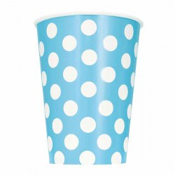 Bicchieri carta Azzurro a Pois